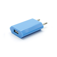 USB Wall Plug - Blue