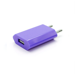 USB Wall Plug - Purple