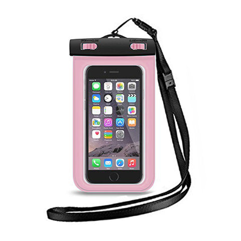 Waterproof iPhone Pouch - Pink