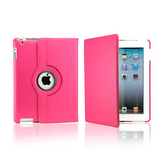 iPad 7 Rotatable Case - Hot Pink