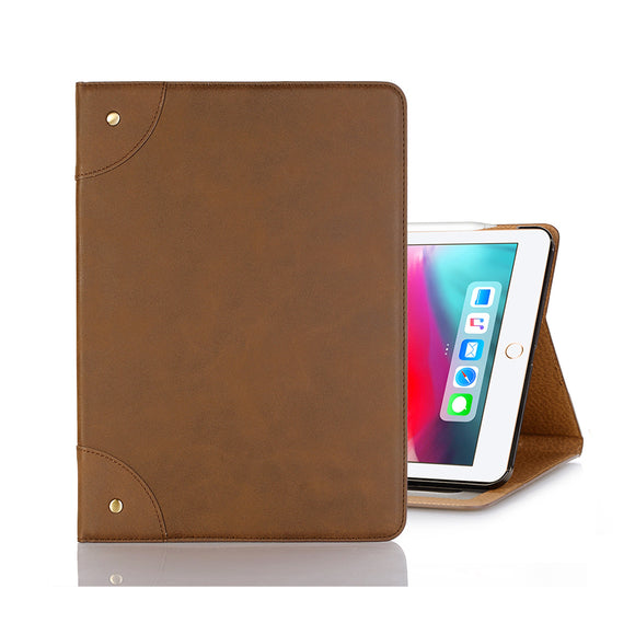 iPad 8 Leather Case - Light Brown