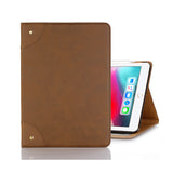 iPad 7 Leather Case - Light Brown