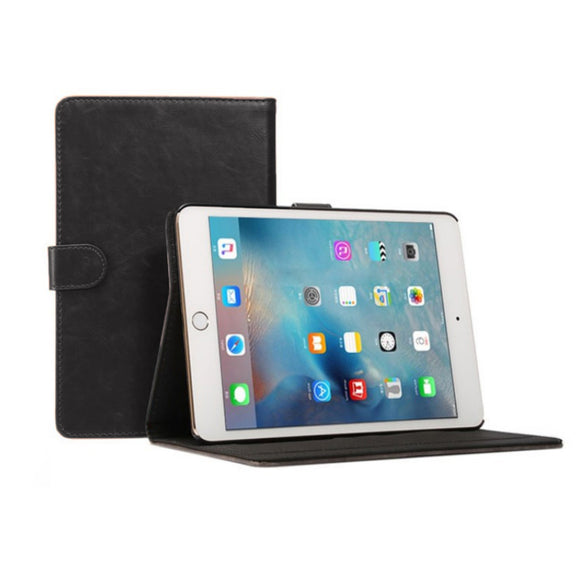 iPad 6 Leather Case - Black