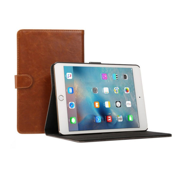 iPad 5 Leather Case - Light Brown