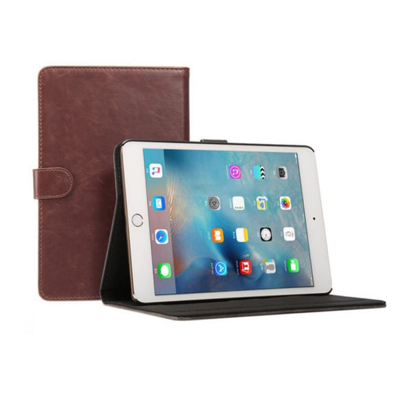 iPad Mini 4/5 Leather Case - Dark Brown