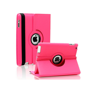 iPad 6 Rotatable Case - Hot Pink