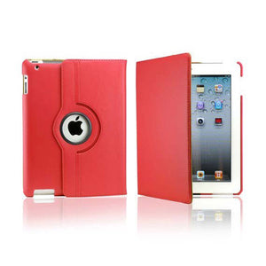 iPad 2/3/4 Rotatable Case - Red