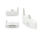 Lightning to 30-Pin Adapter with Audio - White - Tangled - 2