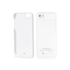 iPhone 5/5S/5C Battery Case 2200mAh - White