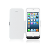 iPhone 5/5S/5C Flip Cover Battery Case 4200mAh - White