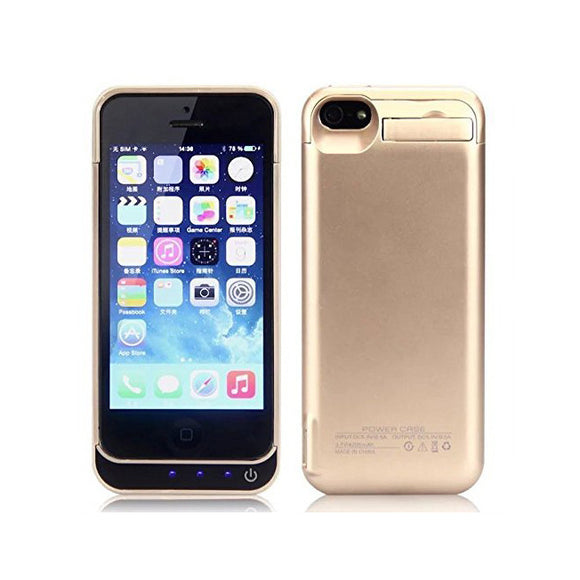 iPhone SE Battery Case 4200mAh - Gold - Tangled