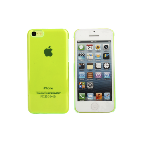 iPhone 5C Clear Case in Lime