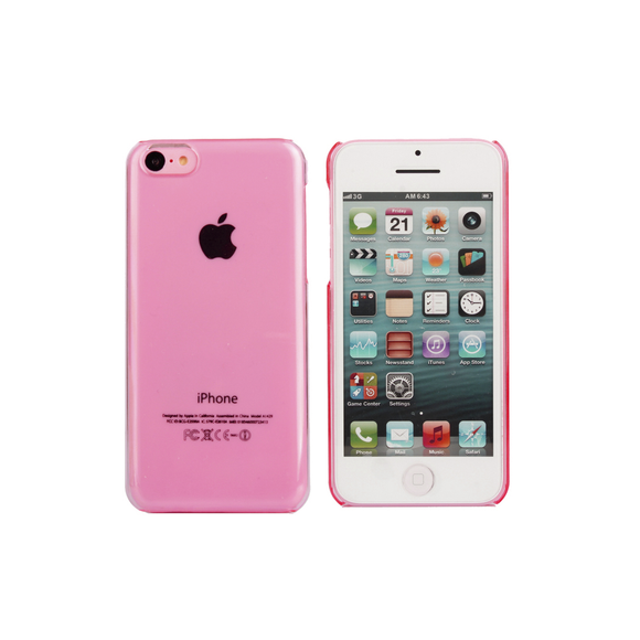 iPhone 5/5S Clear Case in Pink - Tangled