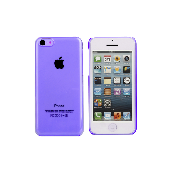 iPhone 5/5S Clear Case in Purple - Tangled