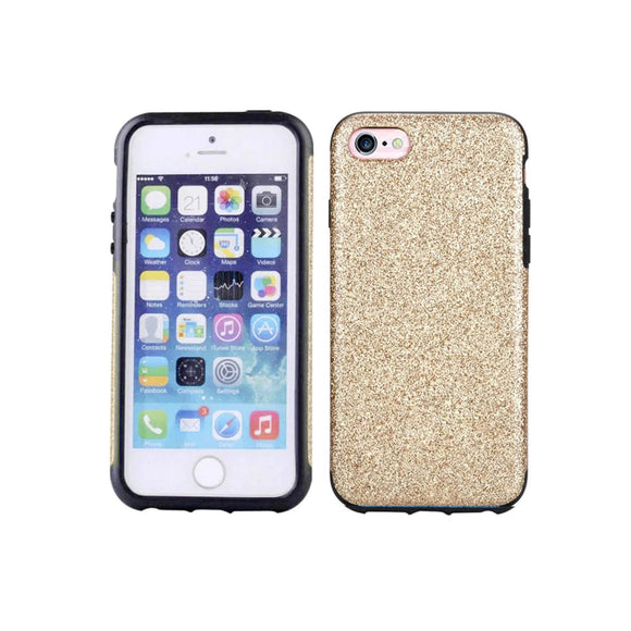 iPhone 7 Glitter Case - Gold - Tangled - 1