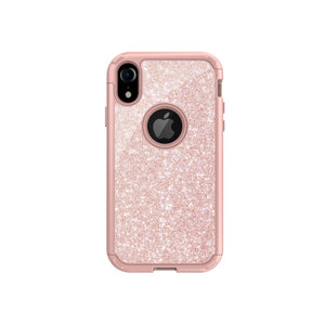 iPhone XR Robust Glitter Case - Pink