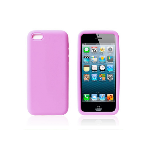 iPhone 5/5S Rubber Case in Pink