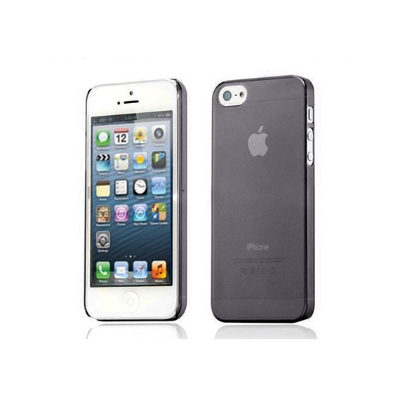 iPhone 5/5S Clear Frosted Case in Black - Tangled