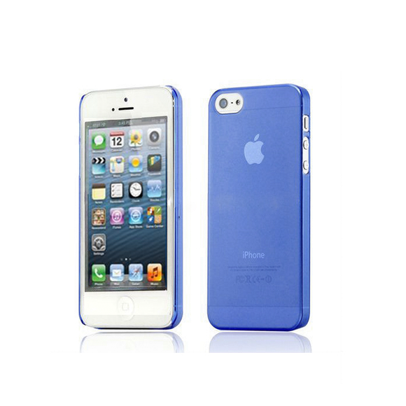 iPhone 5/5S Clear Frosted Case in Blue - Tangled