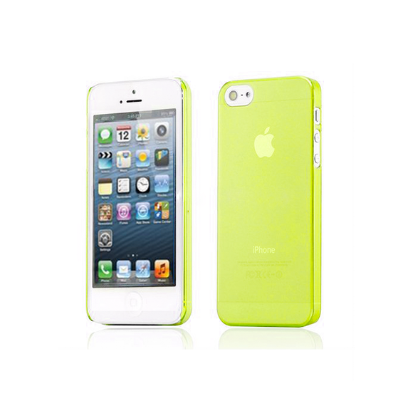 iPhone 5C Clear Frosted Case in Lime - Tangled