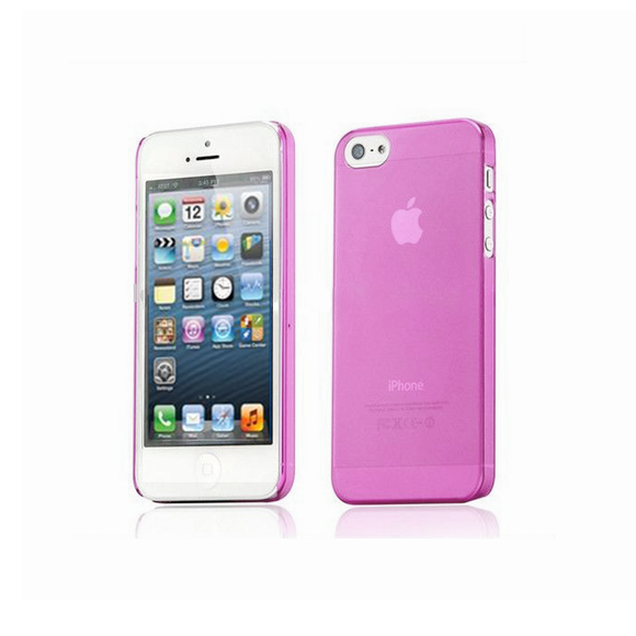iPhone 5/5S Clear Frosted Case in Pink - Tangled