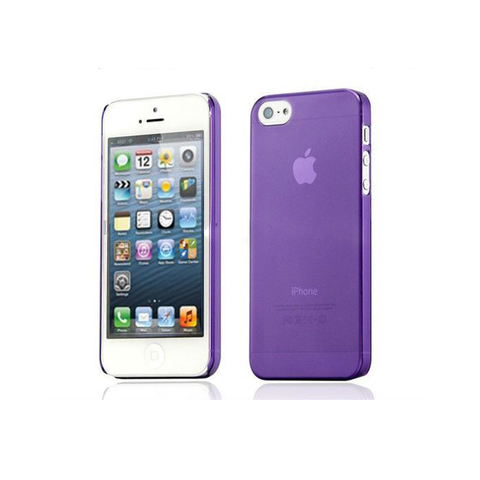 iPhone 5/5S Clear Frosted Case in Purple