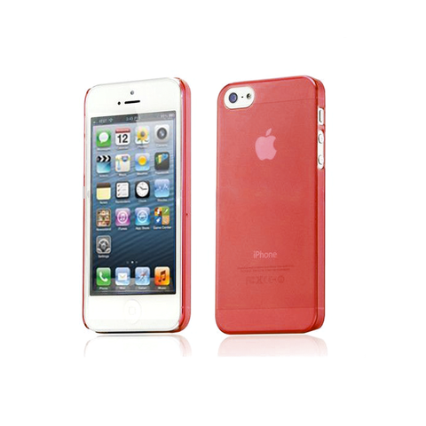 iPhone 5/5S Clear Frosted Case in Red