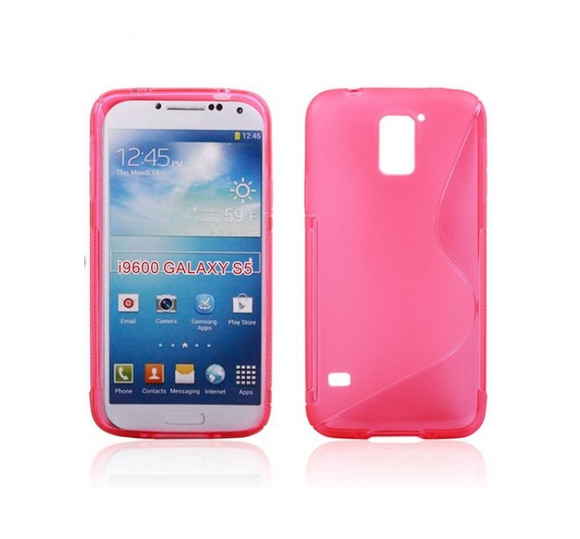 Samsung S5 S-Line Case in Pink - Tangled - 1