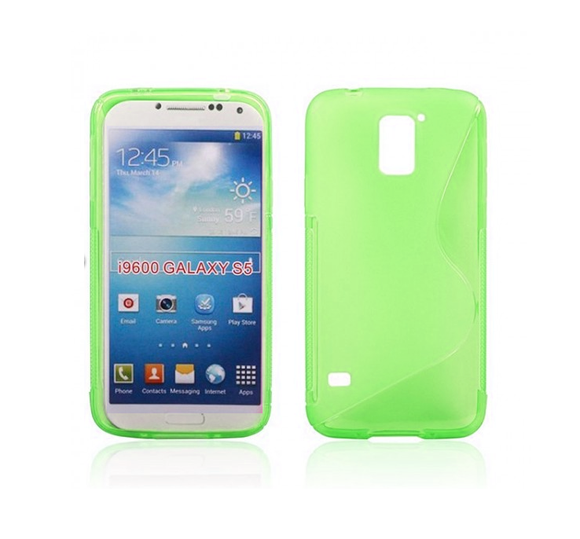 Samsung S5 S-Line Case in Green - Tangled - 2
