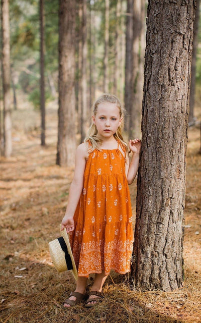 Zara Dress ⁓ Burnt Orange Girls dresses Wild Blossoms