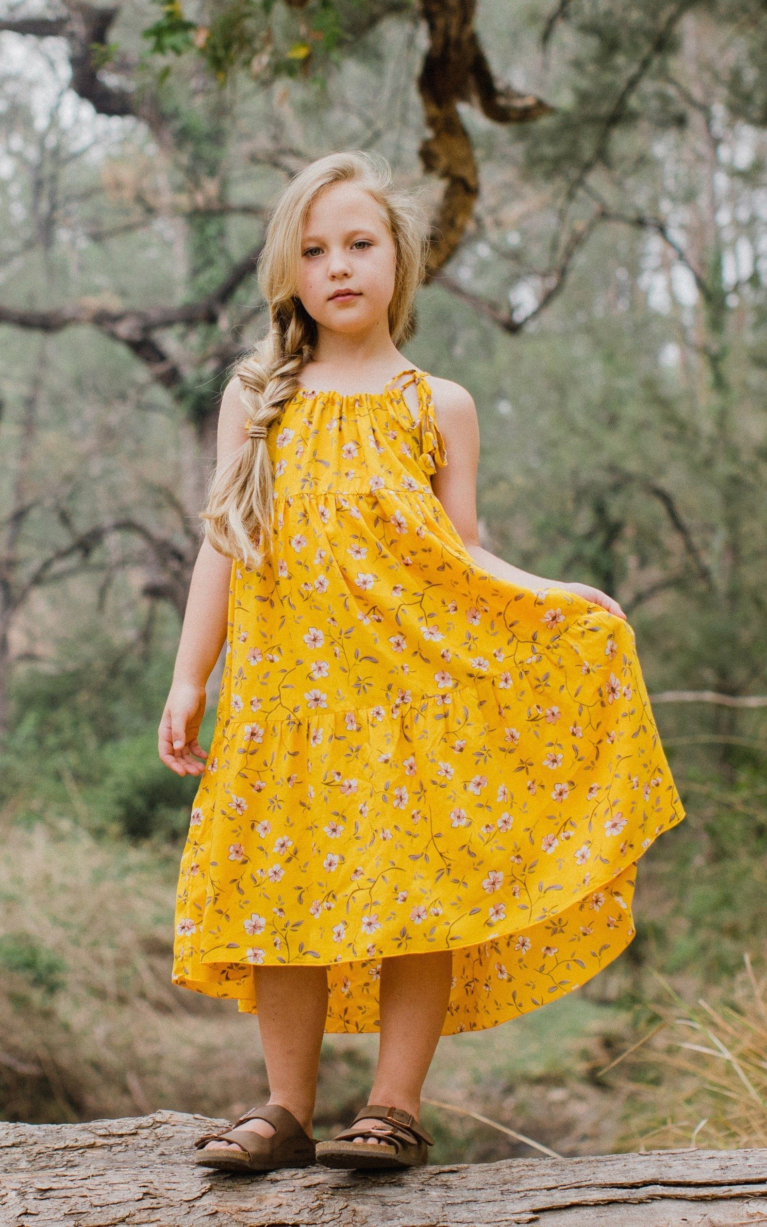 Zara Dress ⁓ Mustard Jewel Girls dresses Wild Blossoms