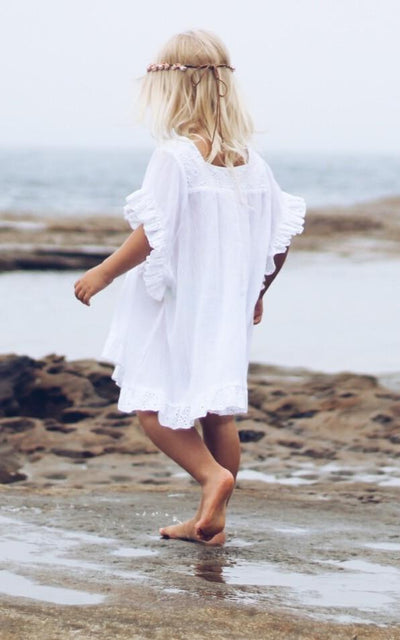 Girls White Kaftan