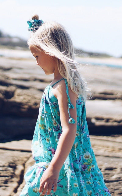 Girls Turquoise Dress