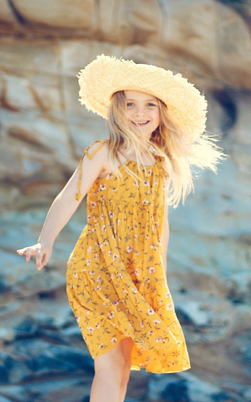 Zara Dress ~ Mustard Jewel Girls dresses Wild Blossoms