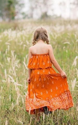 Gypsy Maxi Skirt ⁓ Burnt Orange Tween & teen skirts Wild Blossoms