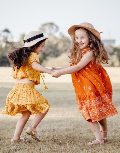 Zara Dress ~ Burnt Orange Girls dresses Wild Blossoms