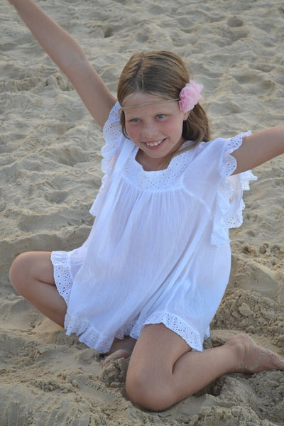 Girls White Beach Coverup