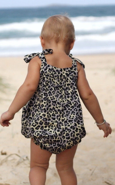 Baby Girl Romper ⁓ Leopard Onesies/Rompers Wild Blossoms