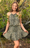 Tween girls leopard print dress