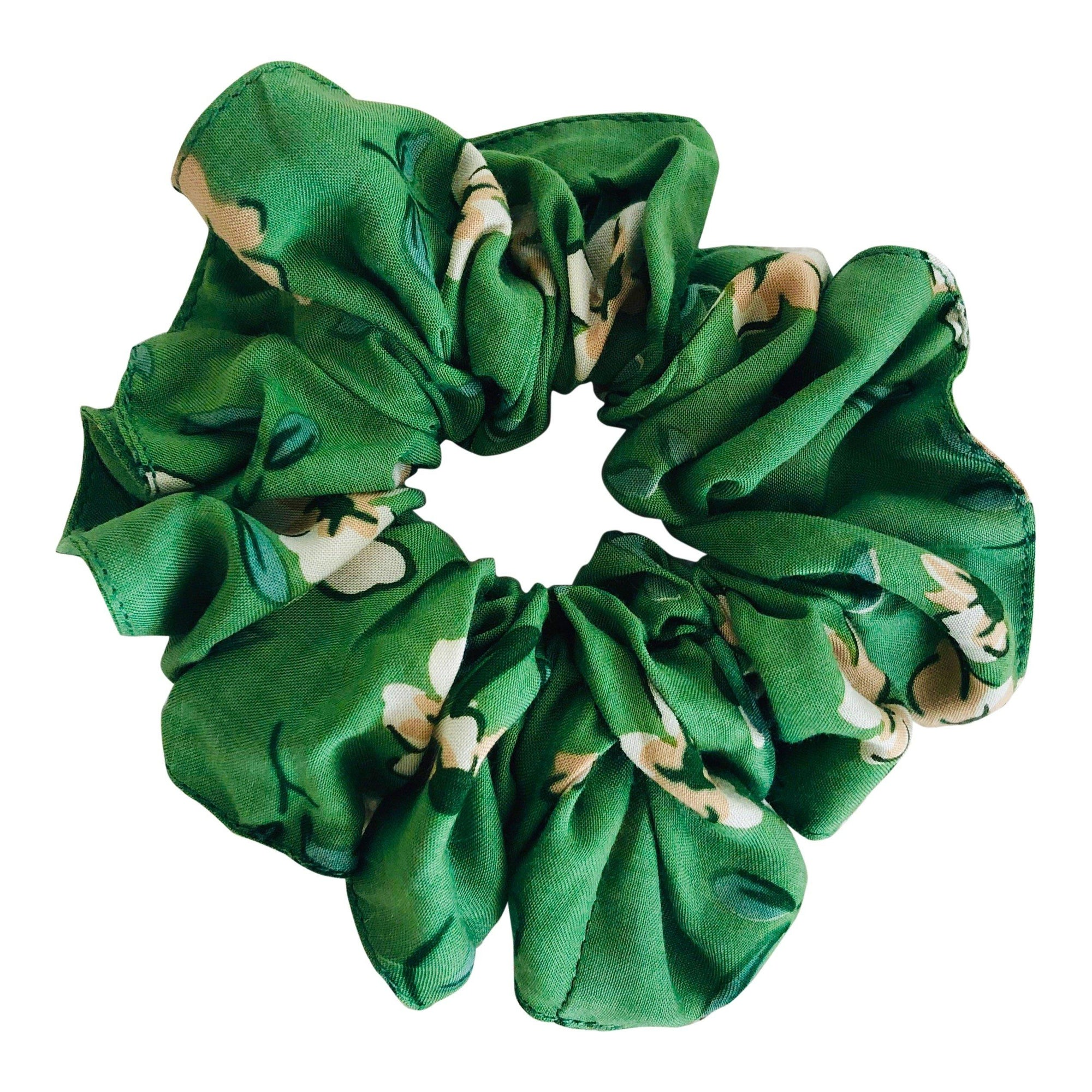 Hair Scrunchie ⁓ Jade accessories Wild Blossoms