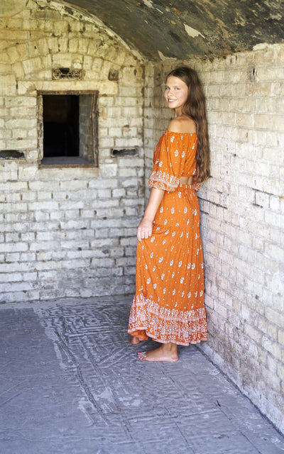 Gypsy Maxi Skirt ~ Burnt Orange Tween & teen skirts Wild Blossoms