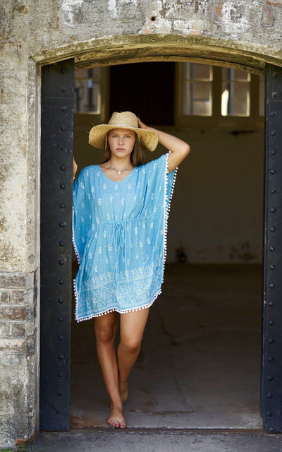 Girls Blue Kaftan