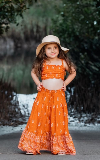 Maxi Skirt + Shirred Top Girls Sets Wild Blossoms