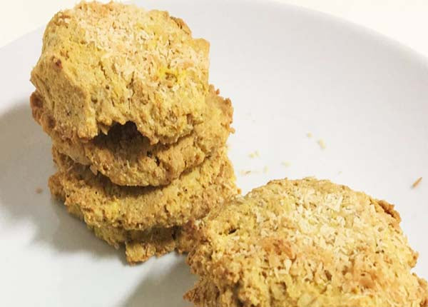 Oats & Whey, Coconut and Cashew Cookies