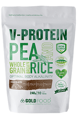 Vegan rice & pea protein - 240g - GoldNutrition Hong Kong