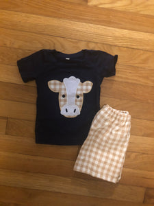 IN STOCK! Boys Cow Set