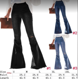 M36 Distressed Flare Jeans