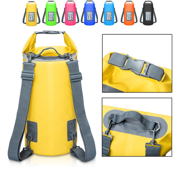 UK 2//10//20L Outdoor Waterproof Canoe Camping Hiking Backpack Dry Bag Pouch Sack