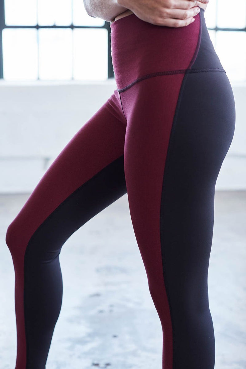 Movement Tight Burgundy and Black - Final Sale - Final Sale
