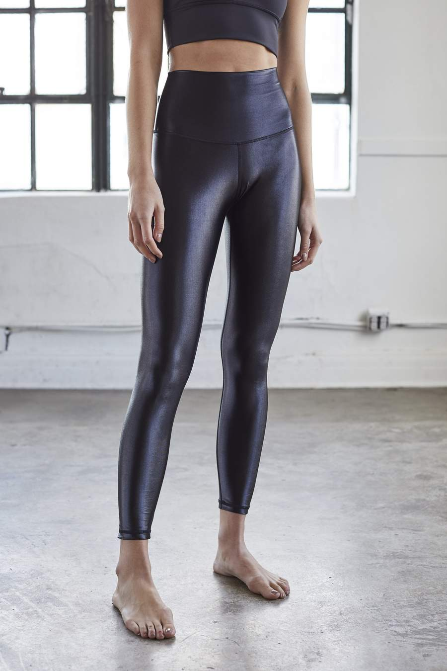 Black High Shine Liquid Leggings
